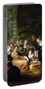 The Garden Of Love Portable Battery Charger by Peter Paul Rubens