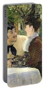The Garden Of Pere Lathuille Portable Battery Charger by Edouard Manet