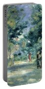 The Gardens In Montmartre Portable Battery Charger by Pierre Auguste Renoir