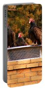 The Gathering Of Vultures Portable Battery Charger