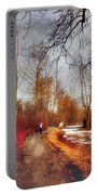 The Girl On The Path Portable Battery Charger