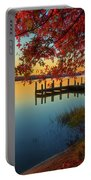 The Glassy Patuxent Portable Battery Charger by Cindy Lark Hartman