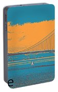 The Golden Gate Bridge In Sfo California Travel Poster 2 Portable Battery Charger