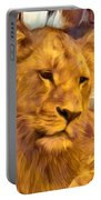 The Golden Lioness  Portable Battery Charger