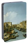 The Grand Canal Near The Rialto Bridge. Venice Portable Battery Charger