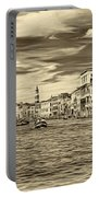 The Grand Canal - Paint Sepia Portable Battery Charger