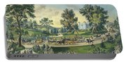 The Grand Drive, Central Park, New York, 1869 Portable Battery Charger
