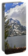 The Grand Tetons And The Lake Portable Battery Charger