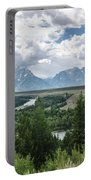 The Grand Tetons Portable Battery Charger by Margaret Pitcher