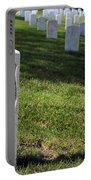 The Grave Of Martha B. Ellingsen In Arlington's Nurses Section Portable Battery Charger