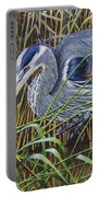 The Great Blue Heron Portable Battery Charger