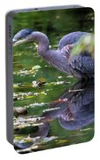 The Great Blue Heron Hunting For Food Portable Battery Charger