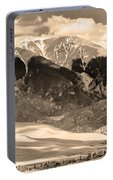 The Great Colorado Sand Dunes In Sepia Portable Battery Charger