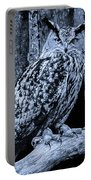 Majestic Great Horned Owl Bw Portable Battery Charger