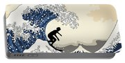 The Great Surfer Off Kanagawa Portable Battery Charger