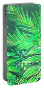 The Green Flower Garden Portable Battery Charger by Darren Cannell