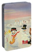 The Happy Snowman Band Portable Battery Charger