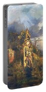 The Haunted House Portable Battery Charger by Thomas Moran