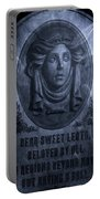 The Headstone Of Madame Leota Portable Battery Charger