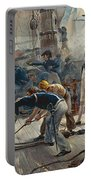 The Hero Of Trafalgar Portable Battery Charger by William Heysham Overend