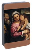The Holy Family , Annibale Carracci Portable Battery Charger