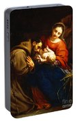 The Holy Family With Saint Francis Portable Battery Charger