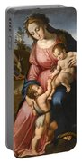 The Holy Family With The Infant Saint John The Baptist Portable Battery Charger