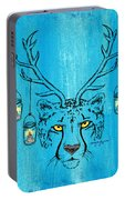 The Horned Cheetah Portable Battery Charger