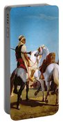 The Horse Of Submission Portable Battery Charger by Louis Eugene Ginain