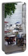 The Horses Of Mackinac Island Michigan Vertical 02 Portable Battery Charger