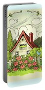 The House At The End Of Storybook Lane Portable Battery Charger