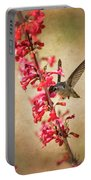 The Hummingbird And The Spring Flowers  Portable Battery Charger