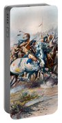 The Indian Encirclement Of General Custer At The Battle Of The Little Big Horn Portable Battery Charger