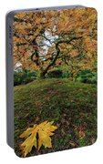 The Japanese Maple Tree In Autumn 2016 Portable Battery Charger