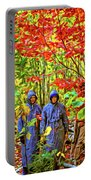 The Joys Of Autumn Camping - Paint Portable Battery Charger