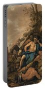 The Judgement Of Midas In The Contest Between Apollo And Pan Portable Battery Charger