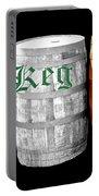 The Keg Room Irish Flag Colors Old English Hunter Green Portable Battery Charger