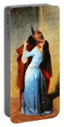The Kiss Of Hayez Revisited Portable Battery Charger
