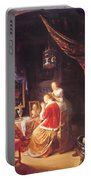 The Lady At Her Dressing Table 1667 Portable Battery Charger