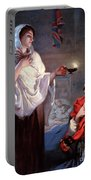 The Lady With The Lamp, Florence Portable Battery Charger by Science Source