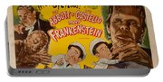 The Laughs Are Monsterous Abott An Costello Meet Frankenstein Classic Movie Poster Portable Battery Charger
