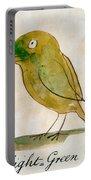 The Light Green Bird Portable Battery Charger