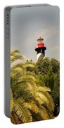The Lighthouse In Saint Augusrtine Fl Portable Battery Charger