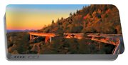 The Linn Cove Viaduct At Sunrise Portable Battery Charger