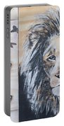 The Lion And The Butterflies Portable Battery Charger