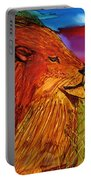 The Lion King Of Massai Mara Portable Battery Charger
