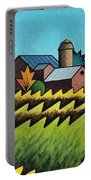 The Little Farm On The Grassy Hill Portable Battery Charger