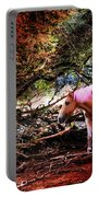 The Little Pink Unicorn By Pedro Cardona Portable Battery Charger
