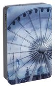 The Liverpool Wheel In Blues Portable Battery Charger