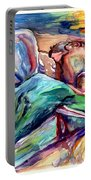 The Lovers Watercolor Portable Battery Charger